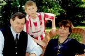 With wife and son in Natolin Park, Warsaw 1998.