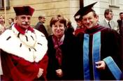 With professor Franciszek Ziajka, the rector of the Jagiellonian University, Cracow 1.10.2003