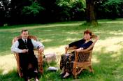 With beloved wife in Natolin Park, Warsaw 1998.