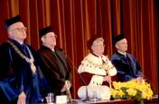 Honoris causa doctorate of the Jagiellonian University, Cracow 01.10.2003. Source: PAP.